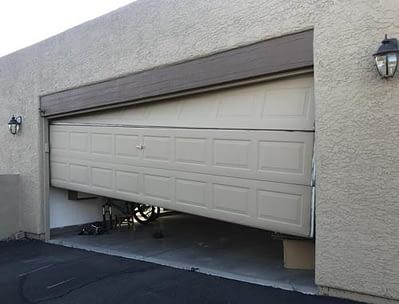 a DIY garage door repair gone bad